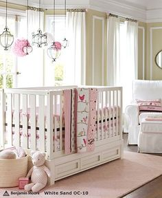 Penelope Pink Chocolate Nursery from Pottery Barn Kids Nursery Room, Girl Nursery, Girl Room, Kids Bedroom, Nursery Decor, Nursery Ideas, Room Ideas, Babies Nursery, Baby Bedroom