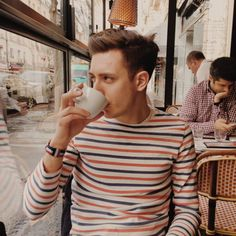 Lunch in Paris | Striped top