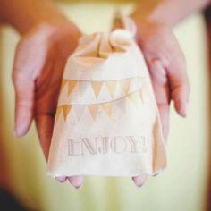 Kids wedding favor bags
