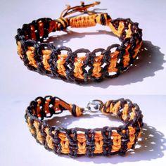 Orange & Black Hemp Bracelet Customize by WartickRavels on Etsy
