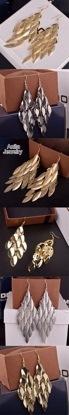 Fashion boho earrings for women gold-color long earrings orecchini lunghi indian jewelry Party brinco grande DY173