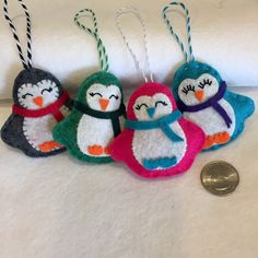 A personal favorite from my Etsy shop https://www.etsy.com/listing/485504554/felt-penguin-ornament