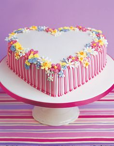 Peggy Porschen Valentine Heart Cake  It would make a Great cake for a shower...