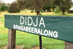 Aussie sign - if you don't get it, you're not an Aussie.
