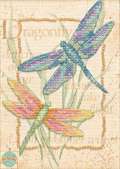 Free Dragon Cross Stitch Charts | Dimensions Minis - Dragonfly Dance - SALE! - Cross Stitch World
