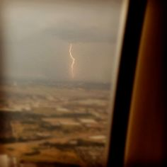Taken from a window seat on an airplane. my granddaughter caught this on her cell phone! amazing.