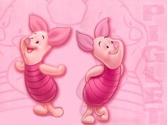 Piglet is a character from A. Milne's Winnie-the-Pooh books and is featured in many Disney productions. He is a baby pig who is the best friend of Winnie-the-Pooh. Piglet and I share the same. Winnie The Pooh Cartoon, Piglet Winnie The Pooh, Pooh Bear, Eeyore, Cartoon Wallpaper, Disney Wallpaper, Cute Pink Background, Background Pics, Favorite Cartoon Character