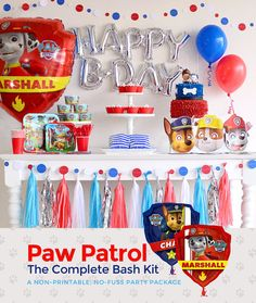 Paw Patrol Party Supplies and Decoration Ideas. by BASHKITS