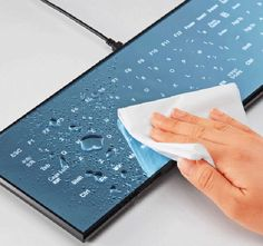 Designed by world renowned industrial designer Dr. Kazuo Kawazaki, the Cool Leaf keyboard is a glimpse into the future: an elegantly tailored tool fusing the utility of a touch-screen with a brilliant, easily serviceable, mirror-like design.