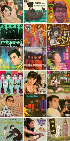 Asian pop album covers of the 1960s