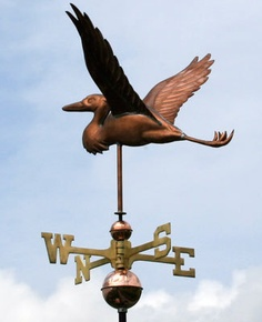 Fabulous Heron Weathervane w Copper Balls Brass Directionals Made in The USA | eBay