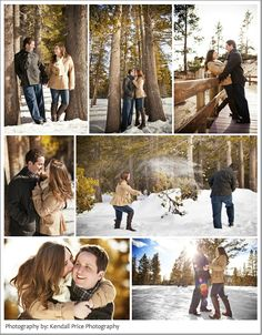 Winter Engagement Session  http://www.kendallpricephotography.com