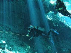 buceo cenote chac mool