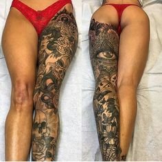 "8,332 Likes, 260 Comments - B&W | TATTOOS (@bw.tattoos) on Instagram: ""Beautiful leg piece! By: @josephhaefstattooer Tag a friend! @bw.tattoos . . #art #artist…"""