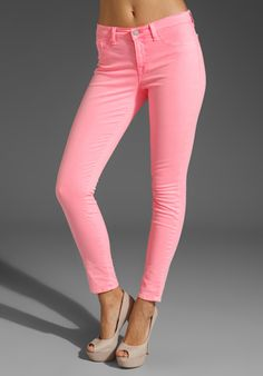 J BRAND Neon Twill Midrise Pant in Neon Pink at Revolve Clothing - Free Shipping!