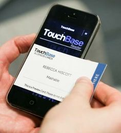 With TouchBase Technologies' business cards, just tap a physical card to a smartphone screen to transfer a digital profile to a recipient's mobile device.
