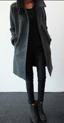 knee length grey tailored dress coat
