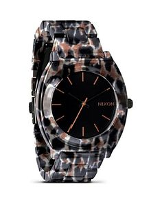 Nixon The Time Teller Leopard Watch, 40mm  PRICE: $150.00