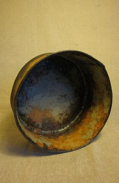 Olia Lamar - large handbuilt bowl - naked stoneware outer - alternate view