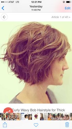 Cut for hair that has texture and curl in back and straight in front. Short