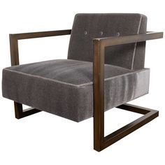 Luxe Mid-Century Style Lounge Chair in the Manner of Milo Baughman | From a unique collection of antique and modern lounge chairs at https://www.1stdibs.com/furniture/seating/lounge-chairs/