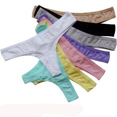 Seamless Sexy Panties Female G String Thong Briefs 12 pc lot