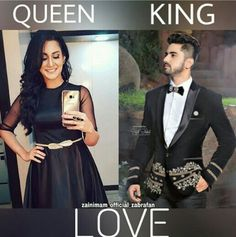 The King and The Queen Cute Love Couple, Best Couple, Girly Attitude Quotes, Crazy Fans, Zain Imam, Cute Stars, Bff Quotes, Girl Swag, Beautiful Soul