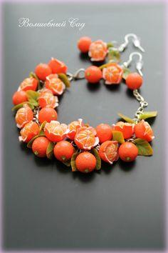 #polymerclay #jewelry #accessories #bracelet #fruits #orange