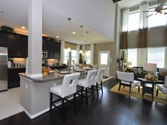 Model Home Curtains photo gallery - model home interiors & features - landmart homes