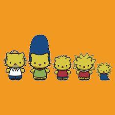 Simpson Kats   hello kitty/simpsons t-shirt
