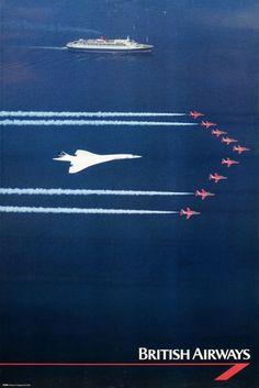 Concorde, QE 2 and the Red Arrows #concorde #toflytoserve