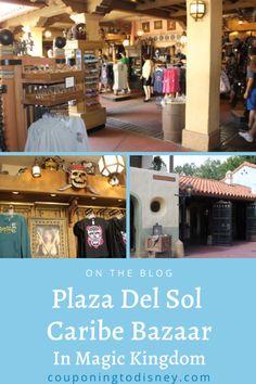 Plaza Del Sol Caribe Bazaar in Magic Kingdom Disney World Magic Kingdom, Disney World Parks, Disney World Planning, Walt Disney World Vacations, Pirate Theme, Pirates Of The Caribbean, Shopping