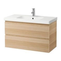 Morgon Odensvik Sink Cabinet With 2 Drawers White Stained Oak Effect 39 3