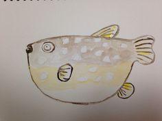 Fugu in watercolour