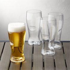 Govino ® Shatterproof Plastic Beer Glasses Set of 4 - Crate and Barrel