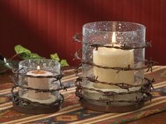 Barbed Wire Votive Candle Holder from Pine Hill Collections