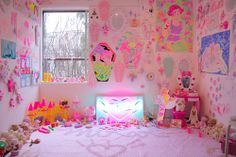Kawaii neon room. ♡