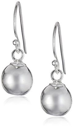 Sterling Silver 8mm Polished Bead Drop Earrings * Visit the image link more details.