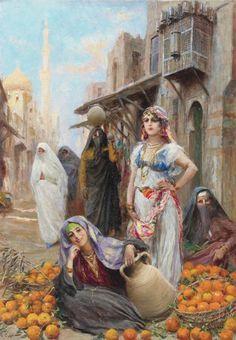 A Colombes de Grand Blanc Enuch Regarder, Jehan Georges Vibert (1840-1902)
