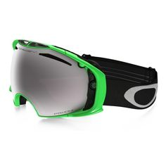 Oakley Airbrake Ski Goggles - 80 Neon Green / Prizm Black Iridium