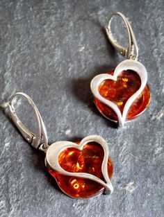 Beautiful amber earrings from www.aventium.fr