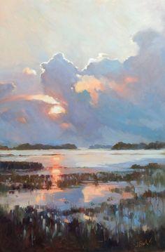 Watercolor Paintings Nature, Landscape Paintings, Landscapes, Jennifer Black, Blue Bird Art, Coastal Art, Office Wall Art, Low Country, Botanical Art