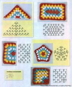 Transcendent Crochet a Solid Granny Square Ideas. Inconceivable Crochet a Solid Granny Square Ideas. Crochet Motifs, Granny Square Crochet Pattern, Crochet Blocks, Crochet Diagram, Crochet Chart, Crochet Squares, Crochet Granny, Diy Crochet, Crochet Patterns