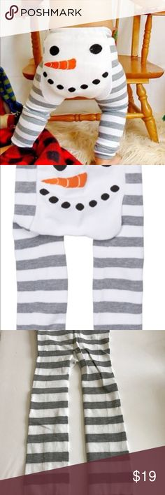 Infants NWT Snowman Leggings NWT/70% Polyester and 30% Cotton/machine washable Doodle Pants Bottoms Leggings