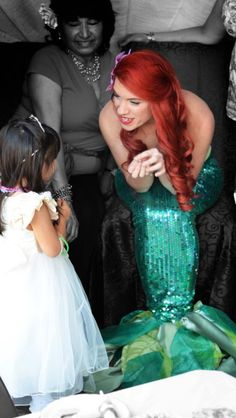 Little mermaid party She even face paints the kids! Princess Parties Characters Starting at only $100!  Www.NeverlandPrincessCo.com  (So. Cal area)