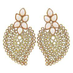 Maayra Gorgeous White Gold Filigree Drop Earringshttp://goo.gl/dYPR9v