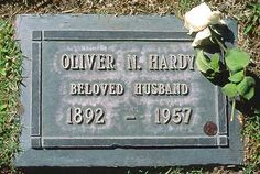 OLIVER HARDY'S GRAVE  (of the Laurel & Hardy team)  at Valhalla Memorial Park  in Los Angeles, California