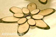 Ashbee Design: DIY • Variations on Wood Slice Flowers •Tutorial