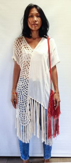 Bohemian Off-White Hand Crochet Half and Half Gypsy от SpellMaya