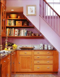 Under Stairs Kitchen Storage view in gallery Victorian Kitchen Cabinets 14 Crown Pointcom Kitchen Design Kitchen Under Stairsspace Under Stairsstorage